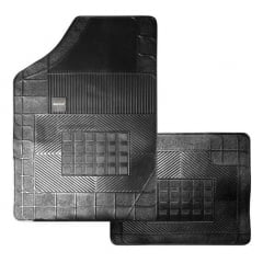 Jogo de tapete preto 4 peças Ka Borcol BC01280044