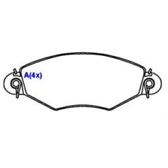 Pastilha de freio dianteira 206 SYL 1326