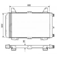 Radiador Escort Visconde RV2282