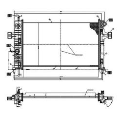 Radiador Astra Vectra Zafira Magneti Marelli RMM8596001