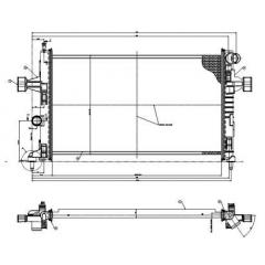 Radiador Astra Vectra Zafira Magneti Marelli RMM8598001