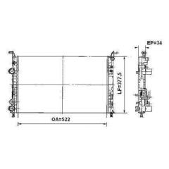 Radiador Idea Palio Siena Strada 732352R