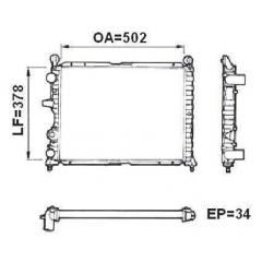 Radiador Tipo Valeo 811071R