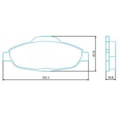 Pastilha de freio dianteira C4 Gran C4 Picasso 308 408 Jurid HQJ-2298