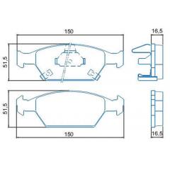 Pastilha de freio dianteira Civic Fit Jurid HQJ-2207A