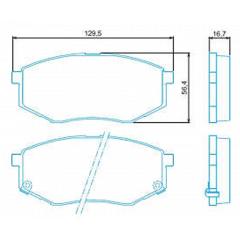Pastilha de freio dianteira IX35 Sonata Jurid HQJ-2284A