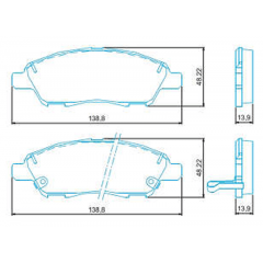 Pastilha de freio dianteira March Versa Jurid HQJ-2291A
