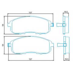 Pastilha de freio Sentra SX 4 Jurid HQJ-2223A